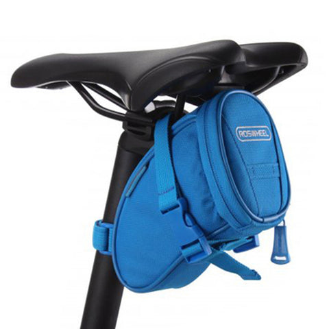 [Blue]Cycling Seat Bag Bicycle Saddle Bag Under Seat Pack Bike Seat Pouch