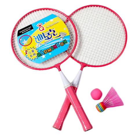 Kid's Badminton Sets Children Indoor/Outdoor Sports Toy Ball Game-Pink/White
