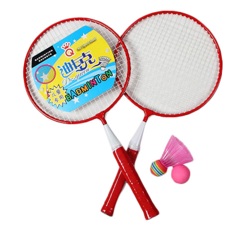 Kid's Badminton Sets Children Indoor/Outdoor Sports Toy Ball Game-Red/White