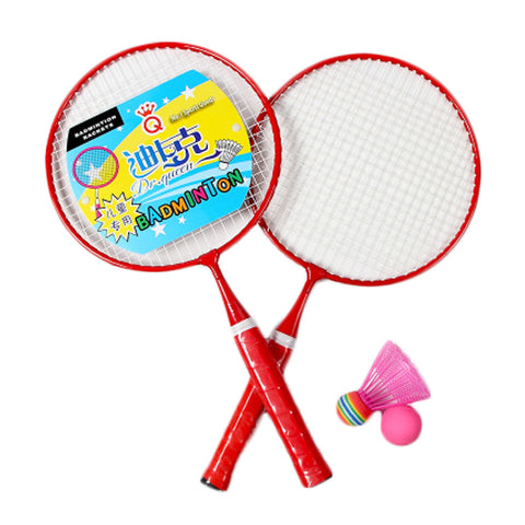 Kid's Badminton Sets Children Indoor/Outdoor Sports Toy Ball Game-Red