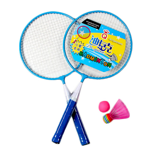 Kid's Badminton Sets Children Indoor/Outdoor Sports Toy Ball Game-Blue/White