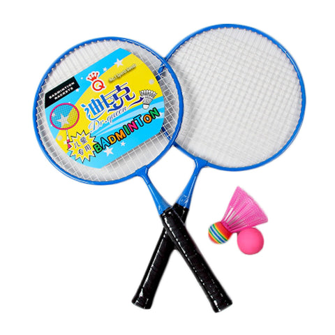 Kid's Badminton Sets Children Indoor/Outdoor Sports Toy Ball Game-Blue/Black
