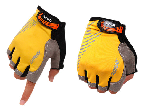 Perfect for Summer Use Half Finger Climbing Gloves Outdoor Sport Gloves Yellow