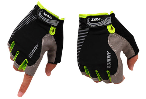 Perfect for Summer Use Half Finger Climbing Gloves Outdoor Sport Gloves Black