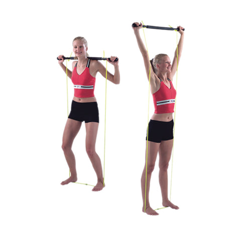 Padded Exercise Bar With Tubing - Unweighted