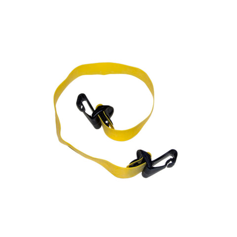 Cando Massage Fitness Equipment Adjustable Exercise Band, Yellow - X-Light