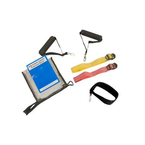 Cando Massage Fitness Equipment Adjustable Exercise Band Kit - 2 Band Easy (Yellow, Red)