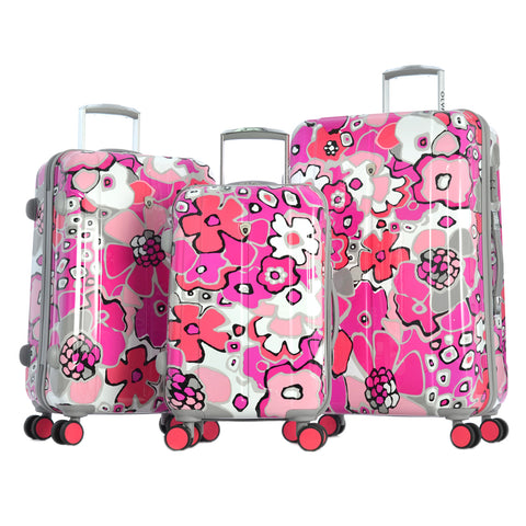 "Luggage America Business Trip Blossom II"""" 25"""" Rolling Case Trolley Fuchsia"