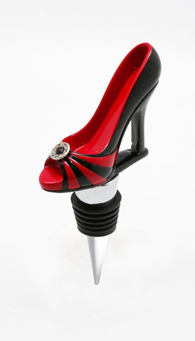 Wine Bottle Stopper- Black & Red