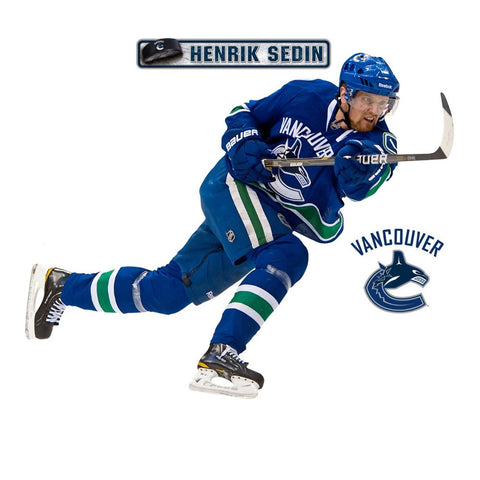 Henrik Sedin Fathead NHL Canucks Hockey Wall Accent Sticker