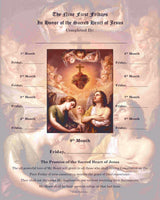 First Friday Devotion Certificate - Sacred Heart & Adoring Angels