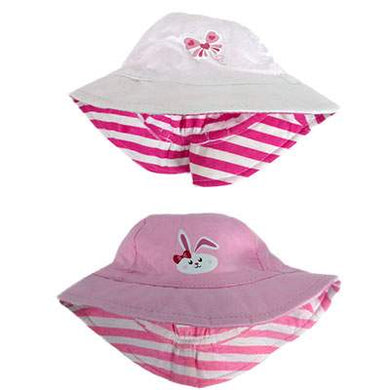 Girls Cotton Hat - Butterfly or Rabbit