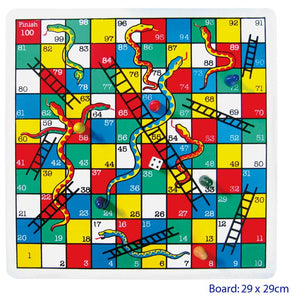 Fun Factory - Wooden Snakes and Ladder Board Game