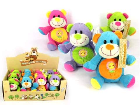 14cm Colourful Bear Plush Toy