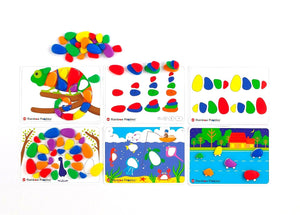 edx education - Rainbow Pebbles Activity Set