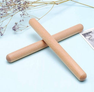 Classical Natural Wooden Claves/Tone Sticks ( 4 or 8 pairs)
