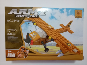 105 Pcs Ausini Army Guard War - Military Plane (22405)