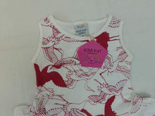 Kim Kat Girls Crane Print Cotton Dress with Necklace