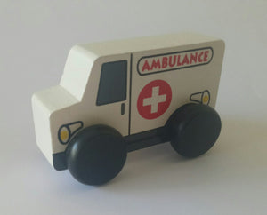 Fun Factory - Wooden Ambulance / Police / Fire Car