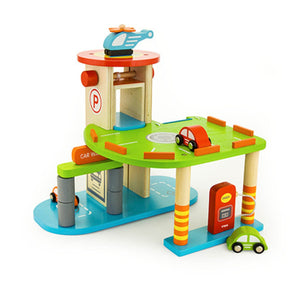 Viga -  wooden 2 level garage set