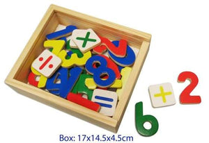 Fun Factory - 37 Pcs Wooden Magnetic Numbers