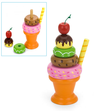 Viga - Wooden Stacking Ice Cream Sundae