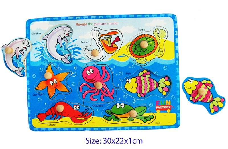 Fun Factory - Wooden Puzzle with Knobs - Sea Animal