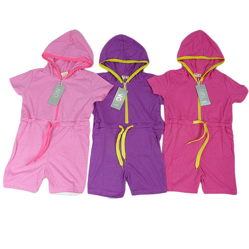 Kids Hooded Playsuit