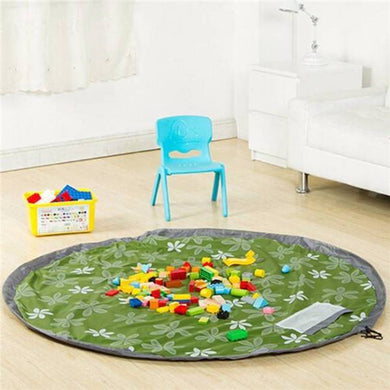 Storage / Play Mat with drawstring (GREEN)