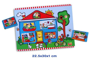 Fun Factory - Wooden Puzzle with Knobs - Cottage