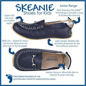 Skeanie - Mary Jane Shoes Patent Navy (SALE)