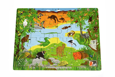 Koala Dream - 24 Pcs Wooden AUSTRALIA ANIMALS and NAME Jigsaw Puzzle