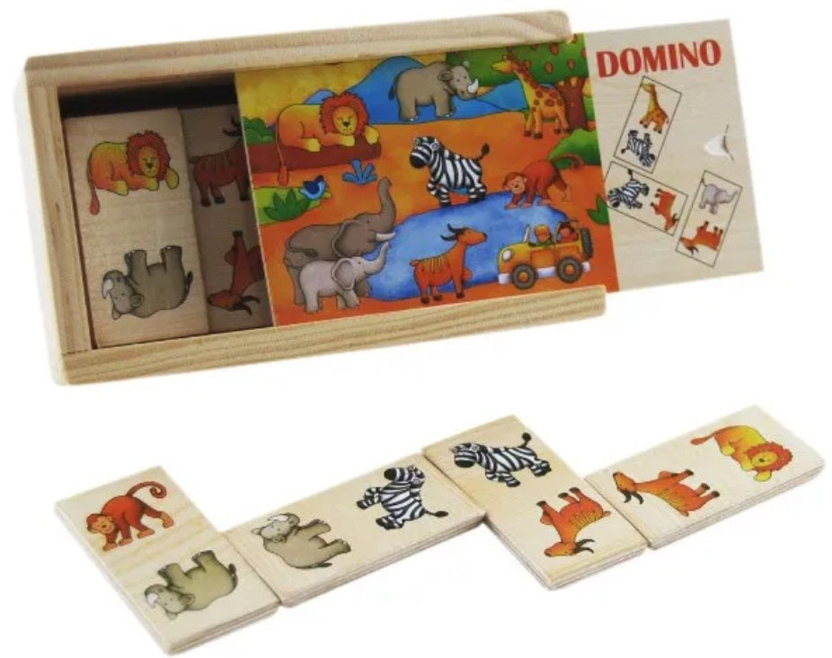 Elka - Wooden Picture Domino JUNGLE ANIMALS