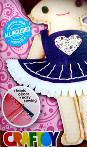 Ballerina Sewing Doll Kit with safety needle