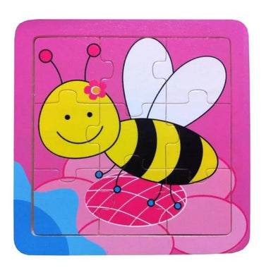 Elka - 9 Pcs Wooden BEE Jigsaw Puzzle