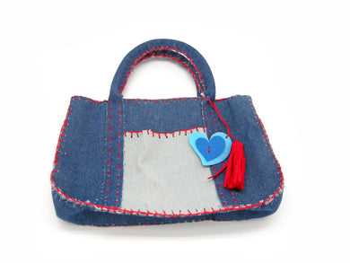 DIY Trendy Denim Bag Sewing Kit with safety needle