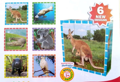 Fun Factory - 9Pc Australian Animals Cube Puzzle