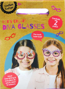 Krafters Korner DIY Craft Kit - LET'S CREATE DIVA GLASSES