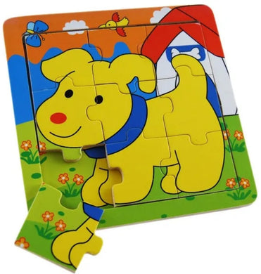 Elka - 9 Pcs Wooden DOG Jigsaw Puzzle