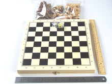 3 in 1 Fold Up Game Set: Chess, Checkers and Backgammon