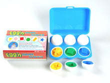 12 Pcs (6 eggs) Shape Egg Puzzle Set in Plastic Case