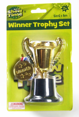 Winner Gold Medal and Trophy Toy Set