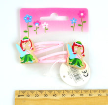 2 Pcs Wooden Kids Hair Clips  - Fairy