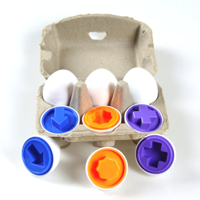 12 Pcs (6 eggs) Shape Egg Puzzle Set in a case