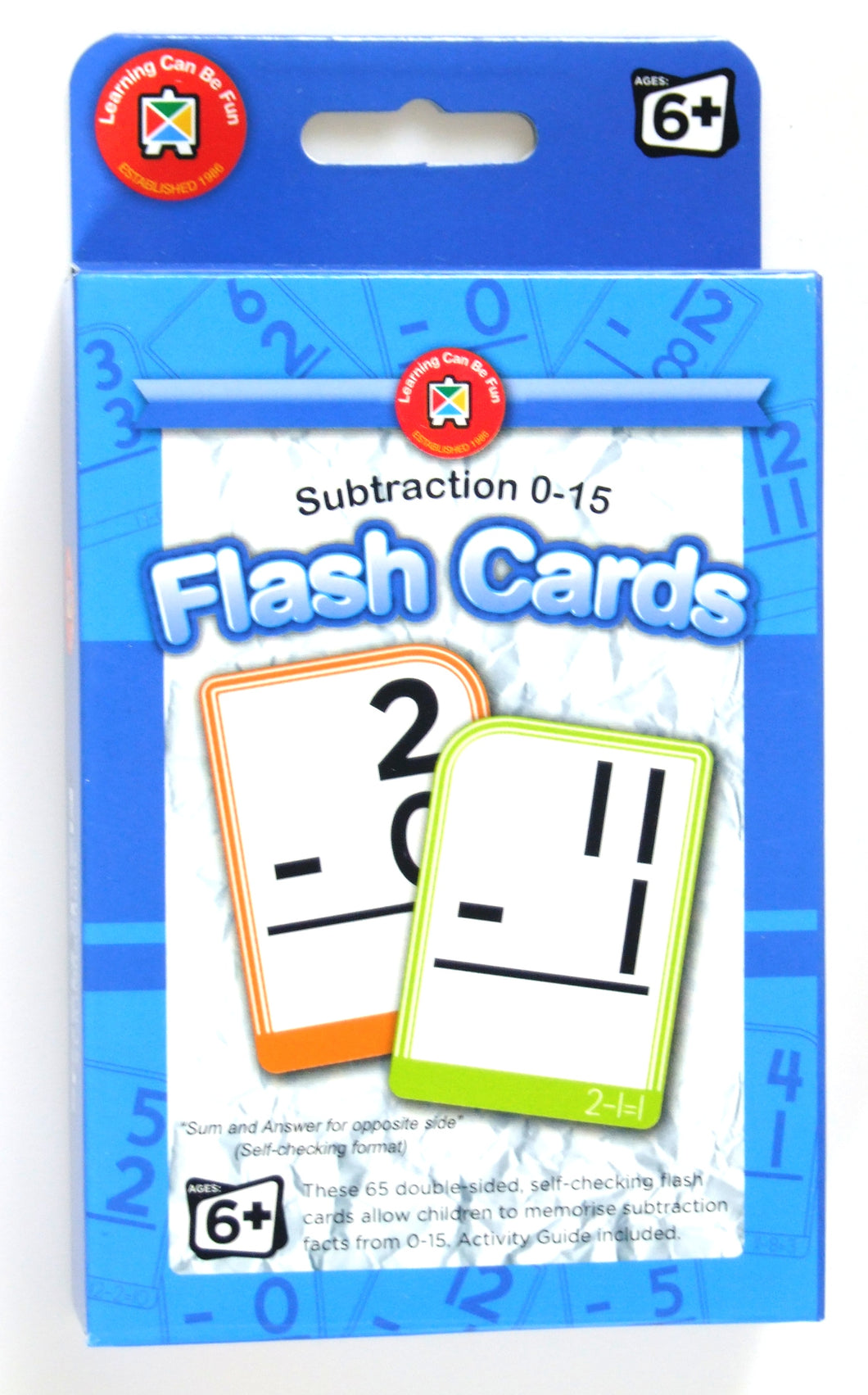 Substraction 0-15 Flash Cards