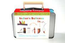 Wooden Indian Set in a tin Case