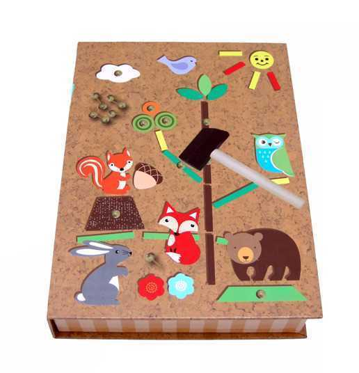 Kaper Kidz - Tap a Shape Set in Book Case - FOREST FRIEND