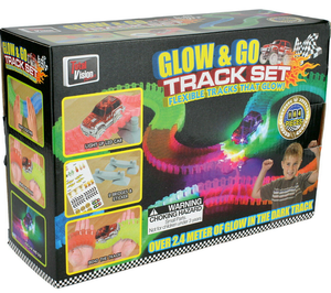 Glow and Go Track and Light Up LED Car Set