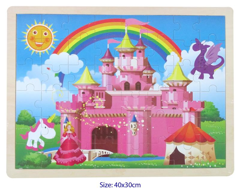 Fun Factory - 48 Pcs Wooden CASTLE Jigsaw Puzzle