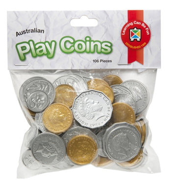 Learning Can Be Fun 106 pcs Plastic Play Coins